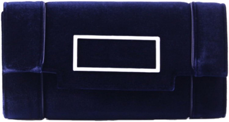 Grace Angel Women's Clutch Classic Evening Bag Handbag With Flannelette GA17606(bluee)