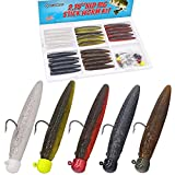 Ned-Rig-Kit-Finesse-Baits-Soft-Plastic-Worms-Fising-Lure-for-Bass-Stick-Lures Shroom Ned Jig Head Kit 35 Piece
