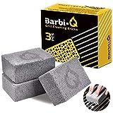 Barbi-Q Piedras Pómez para Limpieza de Parrilla Barbacoa | Bloque de Ladrillos de Limpieza Ecológico | Planchas de Horno | Cocina | Inodoro | Piscina | Baño | Cuidado de Pies - 3 Piezas