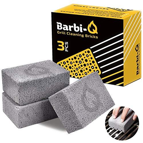 Barbi-Q Pietra Pomice per Pulizia Griglia | Blocco Mattoni per Pulizia Barbecue | Griglie | Cucina | Ruggine | Piscina | WC | Pulitore per Bagno | Spa Piedi – (Set da 3)