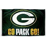 Five Star Flags New Green Bay Packers Flagge, Exklusive NFL Merchandise für Innen-/Außenbereich, 100% Polyester, 3X 5ft