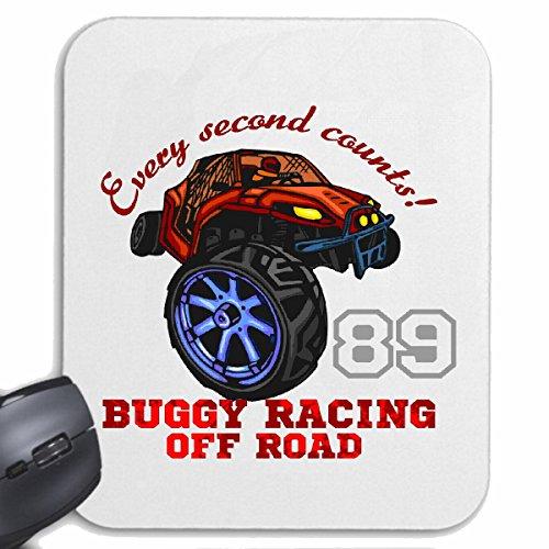 Reifen-Markt Mousepad (Mauspad) Buggy Off Road 4X4 Monster Truck 4×4 GELÄNDEWAGEN Buggy Autocross STOCKCAR RENNEN für ihren Laptop, Notebook oder Internet PC (mit Windows Linux usw.) in Weiß