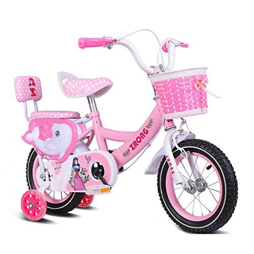 ZPWSNH kinderfiets 3-5 jaar oud meisje fiets 14 inch kinderwagen van koolstofstaal frame fiets, roze/paars/blauw kinderfiets (kleur: roze)