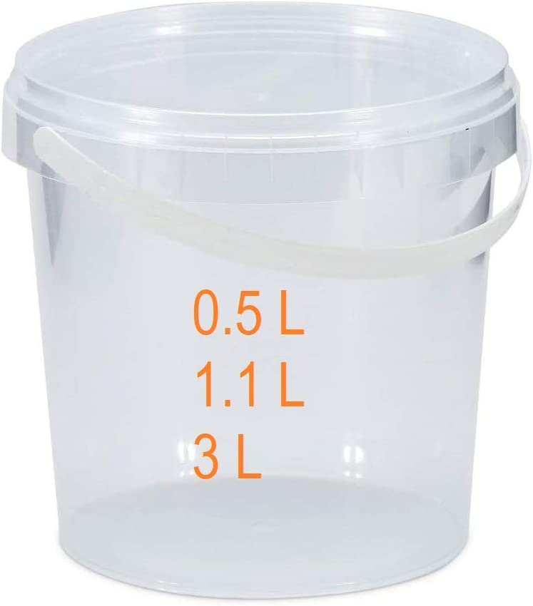 B2C Ranking integrated 1st place Transparent Buckets Tubs Containers Tamper Surprise price Lids Evident 0.5L