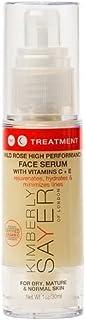 Kimberly Sayer Wild Rose High Performance Face Serum with Vitamins C + E, Organic Anti-Aging Formula to Rejuvenate, Hydrat...
