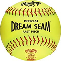 Ideal for ASA and high school level fastpitch softball players, these balls provide durability and consitent performance, making them the standard to softballs and this level of play Made of high density cork and rawlings' patented dream seam technol...