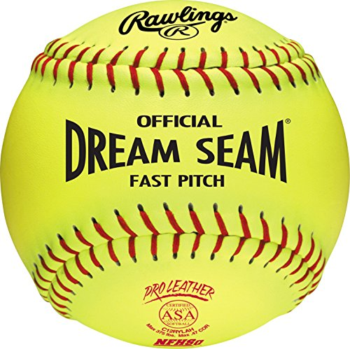 Rawlings Sporting Goods C12RYLAH Official ASA Dream Seam Fast Pitch Softballs (One...