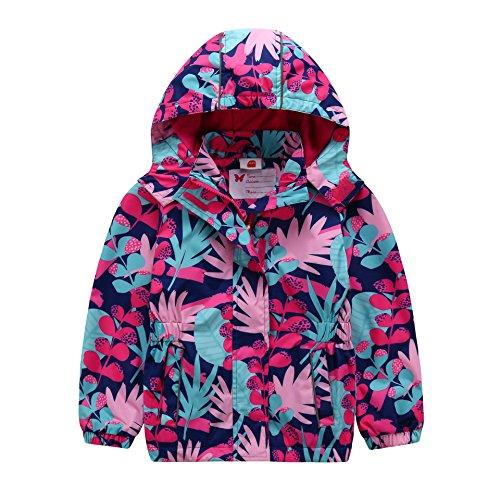 AIWUHE Kinder Regenjacke Atmungsaktiv Winddichte Wanderjacke wasserdichte Regenmantel mit Kapuze Outdoor warm wasserdicht Jacke