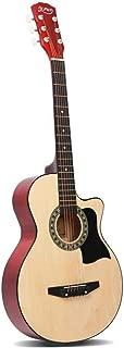 38 Inch Acoustic Guitar Wooden Folk Classical Cutaway Natural Strings Carry Bag Shoulder Strap Picks ALPHA