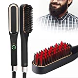 Plancha de barba para hombres, peine alisador de pelo, cepillo alisador de barba, cepillo eléctrico multifuncional y multifuncional, peine alisador de