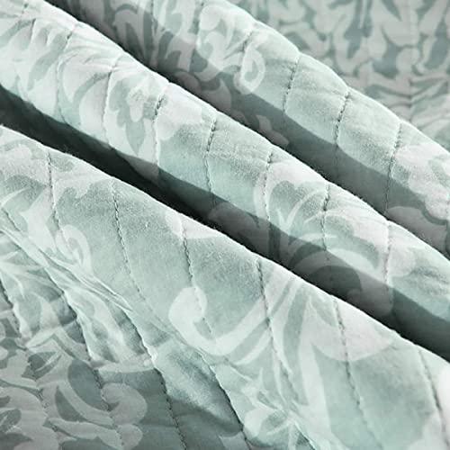 Överkast dubbelt king size överkast Grått sovrum, quiltat överkast, sommar flerfilt med två örngott, 230 * 250 cm