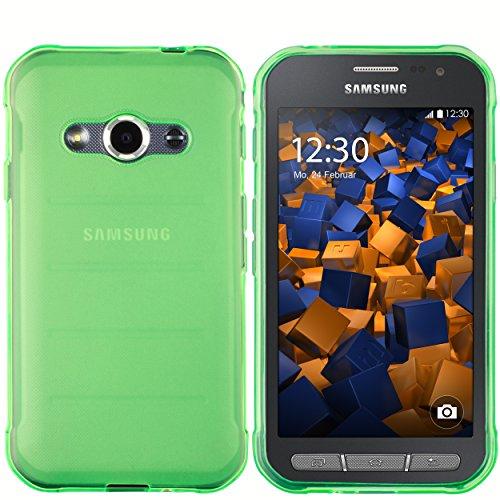 mumbi Hülle kompatibel mit Samsung Galaxy Xcover 3 Handy Case Handyhülle, transparent grün