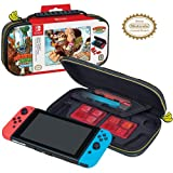 Holds and protects Nintendo Switch Padded divider to protect screen with zippered mesh pocket for Joy-Con Straps and extra Game Cards Durable hard shell case for maximum protection Comfortable carrying handle Each case holds 4 Nintendo Switch Game Ca...