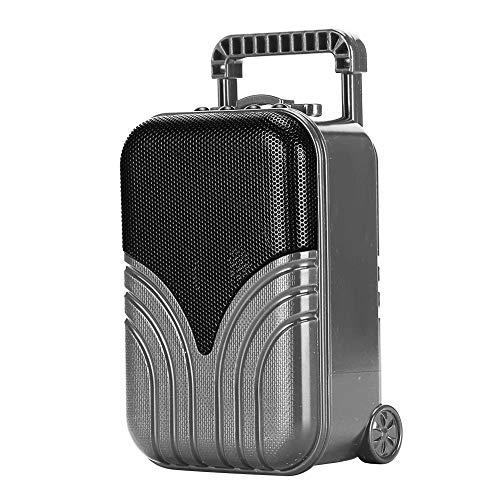 ASHATA draagbare Bluetooth-luidspreker, mini draadloze Bluetooth-luidspreker Bagagekoffer Vorm Draagbare insteekkaart Muziekspeler, 360 HD Surround Sound & Rich Stereo Bass, voor reizen(Grijs)