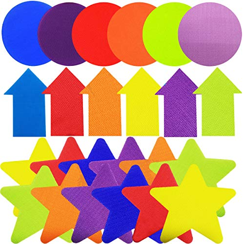 42 Stücke Markierungsscheiben Bunte Spot Marker, Boden Flecken Anti Slip Gummi Carpet Marker Sitzen Flecken, Teppich Spot Marker Selbsthaftend für Bohrer Ausbildung Kinder Schulunterricht Marker