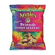 Annie's Organic Bunny Grahams Snack, Chocolate Chip, Chocolate & Honey, 1.25 Oz, 100 Count