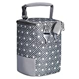 ACECHA Baby Bottle Bag Insulated Breastmilk Cooler Tote Bag for Travel (fit Four 8-Ounce B...