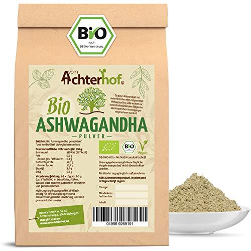 Ashwagandha Pulver BIO (500g) | 100{7f40c4711cbfcd86ffb5f09f478ec380622c32b360884aea2c74ec4be14379cc} ECHTE Ashwagandhawurzel gemahlen aus Indien | indischer Ginseng | Ayurveda
