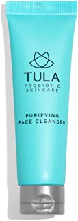 TULA Probiotic Skin Care Purifying Face Cleanser (Travel-Size)   Gentle and Effective Face Wash, Makeup Remover, Nourishing and Hydrating   1 oz