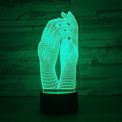 Boutiquespace Luz nocturna 3D ilusión lámpara creativa Star Wars 7 colores interruptor táctil operado por USB, luz nocturna para niños niños niñas cumpleaños Navidad decoración regalo