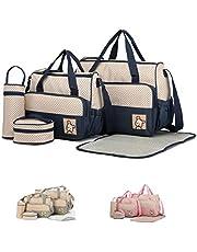 SIERRA Bolsa grande, bolsa mediana, recipiente para la comida, portabebés y cambiador. Juego completo para guardar pañales y comida del bebé.