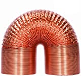 HG Power 150 mm 2 m tubo in alluminio pellicola di alluminio resistente al calore, tubo di...