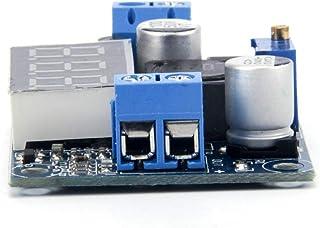 TeOhk LM2596 DC-DC MóDulo Reductor de Potencia Ajustable Control AnalóGico Buck Convertidor MóDulo Regulador de Voltaje con Pantalla LED