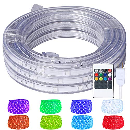 LED Rope Lights, 16.4ft Flat Flexible RGB Strip Light
