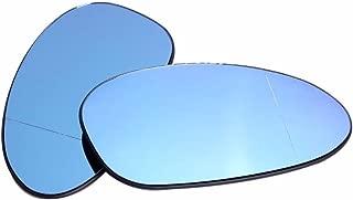 Ricoy For BMW E82 E90 E91 E92 E46 OEM Door Mirror Glass - Heated (Blue Glass) (pack of 2)