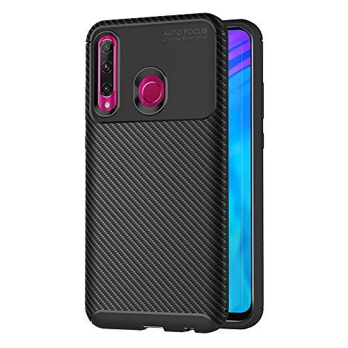AICEK Compatible Huawei P Smart+ 2019 Hülle, Schwarz Silikon Handyhülle für Huawei P Smart Plus 2019 / Honor 20I / Honor 10I Schutzhülle Optik Karbon Soft Hülle (6,21 Zoll)