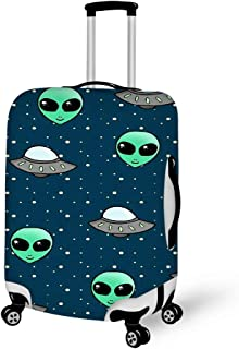 Luggage Protective Cover Suitcase Protector Carry-on and Checked-in Size (25-28 Inch,Alien And UFO Head)