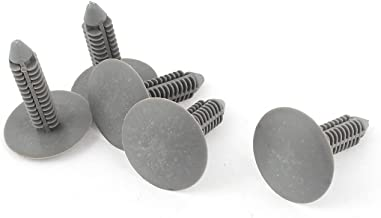 uxcell 5 Pcs 7x7mm Hole Gray Push in Plastic Rivets Car Door Panel Fastener