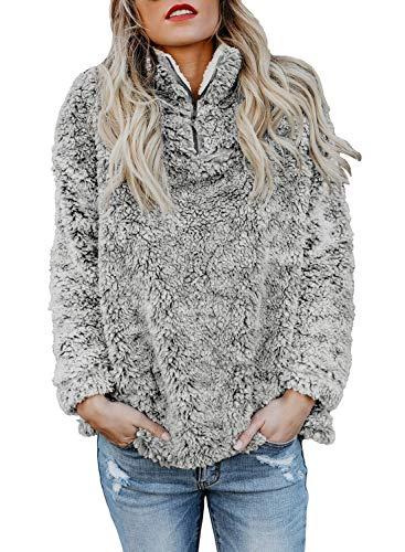 Aleumdr Damen Sweatshirt Gr. (48 DE/50 DE) XX-Large, grau