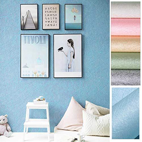 KINLO Colores Imagen de Seda CrudaPapel Pintado Adhesivo Impermeable, Pegatina Autoadhesiva de PVC para Decorar Pared Muebles Aparador Habitación, a Prueba de Agua de Moho, 0.61 * 5M per Rollo