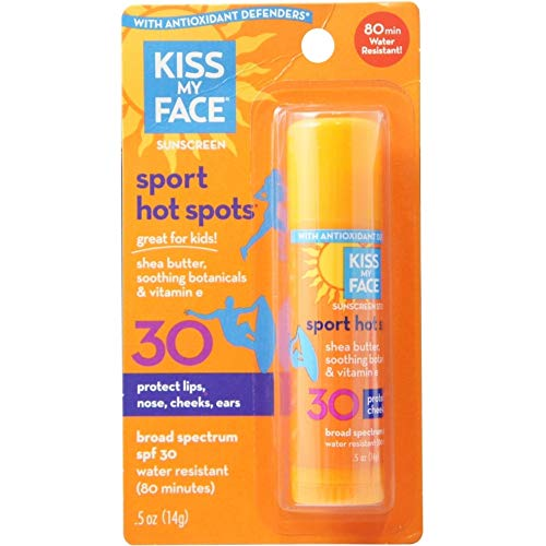 Kiss My Face SPF 30 Hot Spots Sunscreen: 0.5oz Stick (2 Pack) by Kiss My...