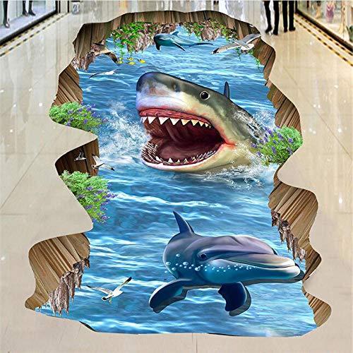 3d boden tapete marine world shark 3d stereo outdoor malerei boden vinyl boden wasserdicht selbstklebende wallpaper-430 * 300 cm