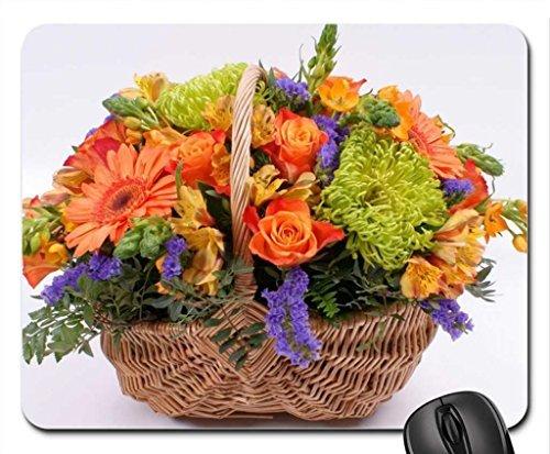 Mand van mooie bloemen muismat, muismat (Voelt muismat)