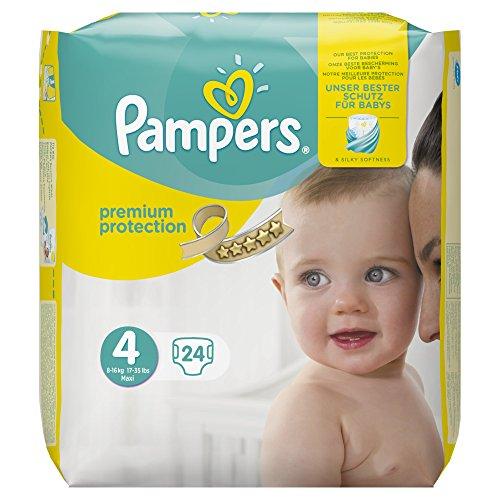 Pampers Premium Protection, 24 pannolini, 9-14 kg, taglia 4