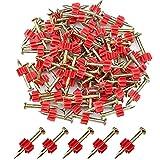 Aallo 90 Piezas Clavo de Cemento Clavos de Carpintería Clavos de Acero para Placas de Acero, Hormigón, Tablones de Madera, Bricolaje y Mantenimiento del Hogar (30 mm)