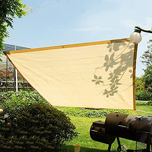 SetSailW Sonnenschutz Netting Gewächshaus Beschattungsnetz Sonnenschutz Sonnenschutz für Pflanzen Blumen Hundehütten Terrasse Beige Outdoor Shade Screen,Beige-4x5m/13x16ft