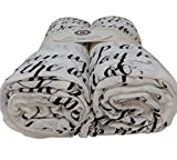Proverbs Scripture Swaddle Blanket Gift Set, Train A Child Up in The Way He Should Go, Ultra-Soft 100% Cotton Muslin Receiving Blankets, Extra Large, 2 Pack (Brown)