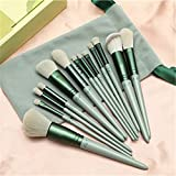 Makeup brush set professional beauty foundation powder puff blush eye shadow eyebrow brush makeup tool - Green