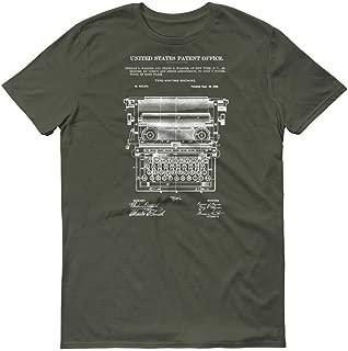 myPatentPrints Underwood Typewriter Patent T-Shirt 1899 100% Cotton