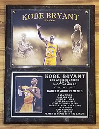 KOBE BRYANT LOS ANGELES LAKERS DELUXE 9X12 COLLECTOR PHOTO PLAQUE 2020