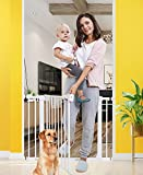 Baby Gates for Stairs and Doorways Dog Gates for The House, 30-40.5 inches - Indoor Safety Gates for Kids or Pets...