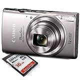 Canon PowerShot ELPH 360 HS (Silver) Digital Camera w/ 16 GB SD CARD
