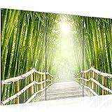 032431a - Cuadro de pared (120 x 80 cm, fieltro), diseño de puente en el bosque