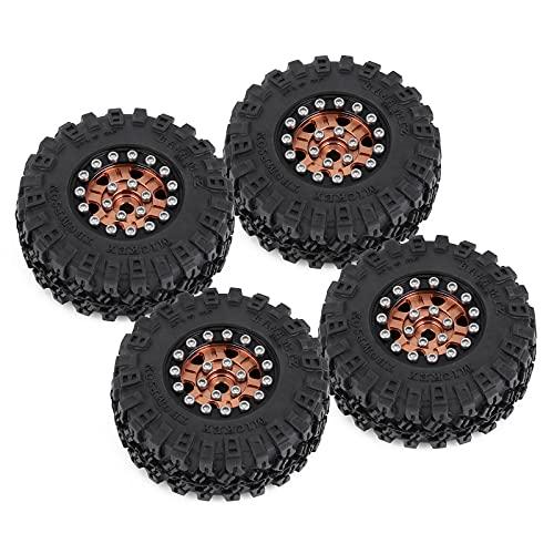 HOTSTORM 1.0 Micro Beadlock Rims Tires Metal Beadlock Crawler Tires Set for 1/24 RC Crawler Car...