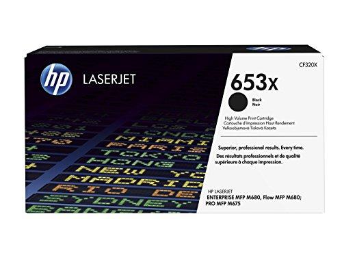 HP 653X (CF320X) Schwarz Original Toner mit hoher Reichweite für HP Color Laserjet Enterprise M680