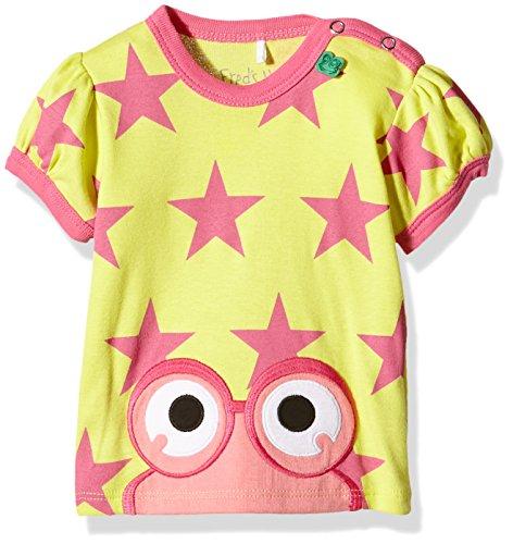Fred'S World By Green Cotton Star Peep T Girl Baby T-Shirt, Jaune (012064201), 24 Mois Bébé garçon